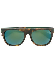 Retrosuperfuture 'Large Flat Top Francis Squadra' Sunglasses Brown