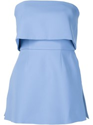 C Meo Layered Strapless Top Blue