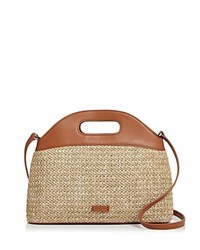 Steven Alan Blake Basket Straw And Leather Tote Natural Silver
