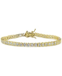 Giani Bernini Cubic Zirconia Boxed Tennis Bracelet In 18K Gold Plated Sterling Silver Only At Macy's