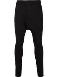Julius Drop Crotch Track Pants Black