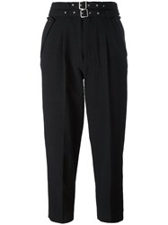 Diesel High Waisted Trousers Black