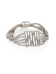 John Hardy Bamboo 18K Yellow Gold And Sterling Silver Bracelet Silver Gold