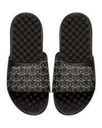 Islide Star Outline Slide Sandal Black