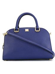 Dolce And Gabbana Bowling Tote Bag Blue
