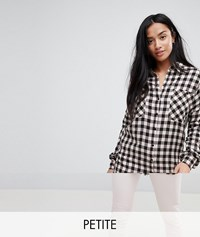 Noisy May Petite Checked Shirt Multi