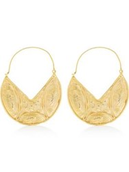Ottoman Hands Statement Earrings Gold Plated