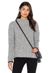 White Warren Boucle Sweater Gray