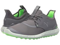 Puma Ignite Spikeless Sport Smoked Pearl Silver Green Gecko Men's Golf Shoes Gray