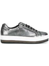 Diesel Platform Metallic Sneakers Grey