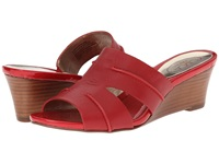 Circa Joan And David Shanna Medium Red Leather Women's Wedge Shoes