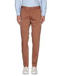 Manuel Ritz White Trousers Casual Trousers Men Brown