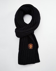 Superdry Super Twist Cable Scarf Black