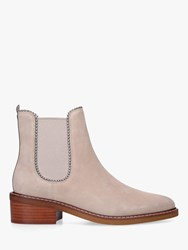 Coach Bowery Beadchain Suede Ankle Boots Natural