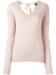 Joseph V Neck Jumper Pink Purple