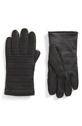 Canada Goose Men's Quilted Leather Gloves Black