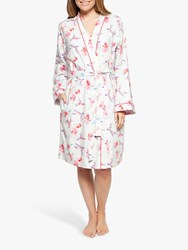 Cyberjammies Evie Hummingbird Dressing Gown White Red