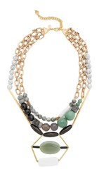David Aubrey Zoe Necklace Gold Multi