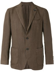 Lardini Casual Blazer Brown