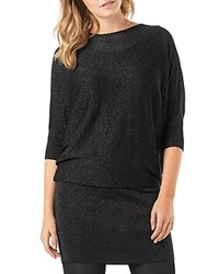 Phase Eight Becca Shimmer Batwing Dress Black