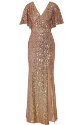 Marchesa Notte Embellished Tulle Gown Blush