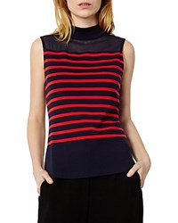 Karen Millen Sleeveless Striped Top Blue Multi