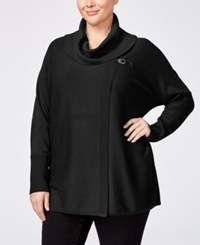 Jm Collection Plus Size Cowl Neck Poncho Only At Macy's Deep Black