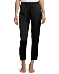 Josie Natori Silk Track Lounge Pants Black