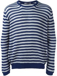 Ermanno Scervino Striped Jumper Blue