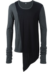 Unconditional Asymmetric Panel Longsleeve T Shirt Grey