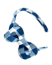 Pili Carrera Girls' Cotton Gingham Headband Blue