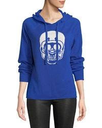 360 Sweater Collegiate Skull Cashmere Hoodie Blue Pattern