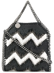 Stella Mccartney Studded Chevron Falabella Bag Black