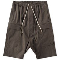 Rick Owens Drawstring Cargo Pods Short Grey