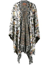 Missoni Fringed Cardi Coat White