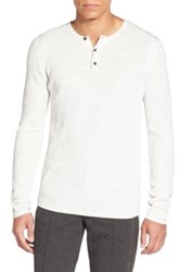 Vince Long Sleeve Thermal Henley White