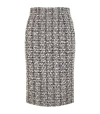 Alexander Mcqueen Tweed Pencil Skirt Female Grey