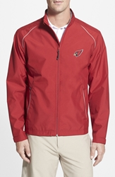 Cutter And Buck 'Arizona Cardinals Beacon' Weathertec Wind And Water Resistant Jacket Cardinal Red