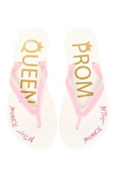 Betsey Johnson Amy Flip Flop Pink