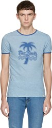 Marc Jacobs Blue Palm Tree Ringer T Shirt
