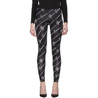 Versace Black Gianni Signature Leggings