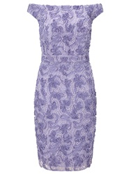 Ariella Nora Off The Shoulder Textured Midi Dress Lavender