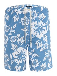 Howick Hawaiian Print Swim Shorts Navy