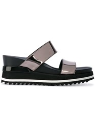 A.F.Vandevorst Metallic Sandals Women Leather Polyester Rubber 36.5 Grey