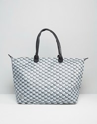 Mi Pac Check Shopper Bag Black Check