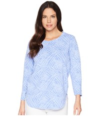 Fresh Produce Ocean Tide Catlina Top Peri Blue Long Sleeve Pullover