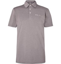 Rlx Ralph Lauren Airflow Stretch Jersey Polo Shirt Gray
