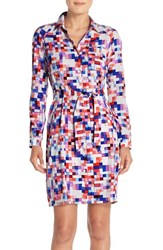 Women's Nydj 'Kelsie' Floral Print Shirtdress With Built In Shapewear