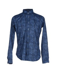 Mastai Ferretti Shirts Shirts Men Blue