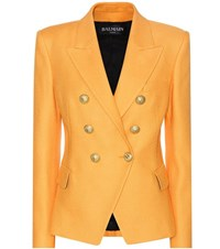 Balmain Cotton Blazer Orange